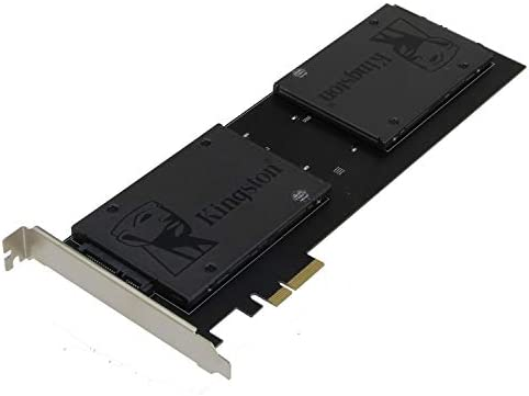 SSD not included Marvell HyperDuo Technology with Low Profile Bracket Quad mSATA SSD RAID Controller Card SEDNA RAID 0//1//10 PCIe 4X