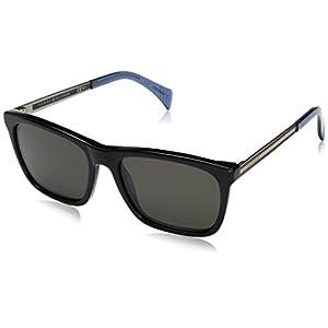 Tommy Hilfiger Th1435s Wayfarer Sunglasses, Black Light Gold/Brown Gray, 55 mm