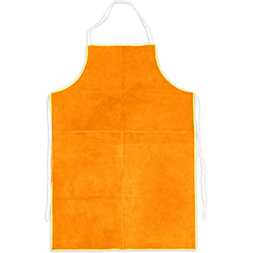 Cowhide Leather Welding Work Apron,Heat Resistant&Flame Resistant