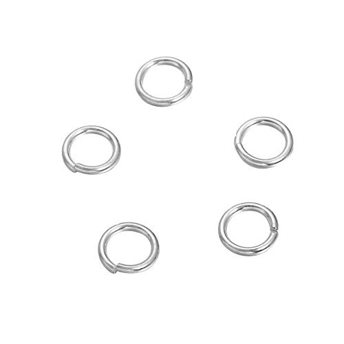50PCS 925 Sterling Silver Open Jump Ring for DIY Jewelry Making Findings 3mmx0.5mm