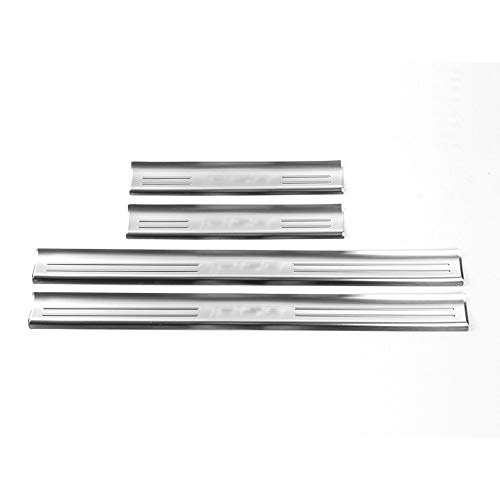 HIGH FLYING 4pcs Steel Side Outer Door Sill Scuff Plate Threshold for Ford F-150 F150 2015 2016 2017 2018