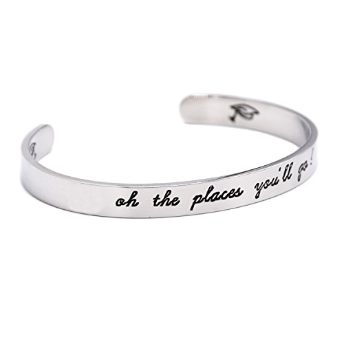 LParkin Oh The Places You Will Go Bracelet, Stainless Steel (White) by LParkin (Image #1)