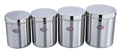 Amazon Com Indian 4pc Stainless Steel Food Storage