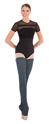 "Body Wrappers 48"" Charcoal Grey Extra Long Stirrup Leg Warmers - 92 from Body Wrappers"