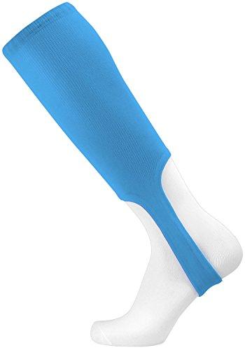 TCK Sports Solid Colors 7 Baseball/Softball Stirrup Socks (Columbia Blue, - Sanitary Socks Adult