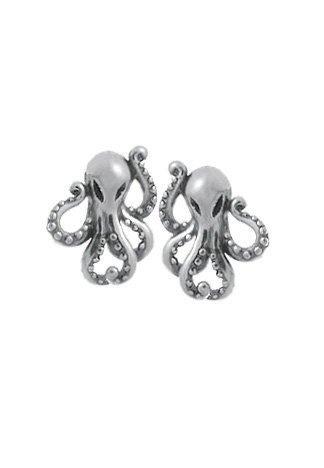 Boma Sterling Silver Octopus Earrings