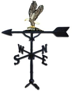 Montague Metal Products 32-Inch Weathervane with Swedish Iron Eagle Ornament