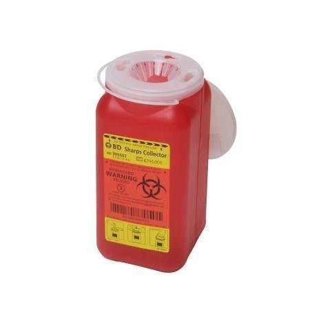 Becton-Dickinson Sharps Collector 1.4Qt Red - Model 305557