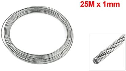 Hoisting 7x7 1.2mm Diameter Stainless Steel Flexible Wire Rope 32.8Ft LW