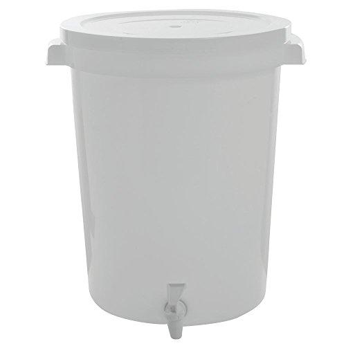 HUBERT Large Plastic Beverage Dispenser With Spigot 24 (Plastic Round Beverage Dispenser)