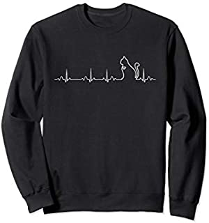 Cat In Heartbeat Funny    Cool Love All Cats Lady Gift Sweatshirt T-shirt   Size S - 5XL