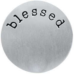 Blessed Stainless Steel Back Plate for Origami Owl Living Locket