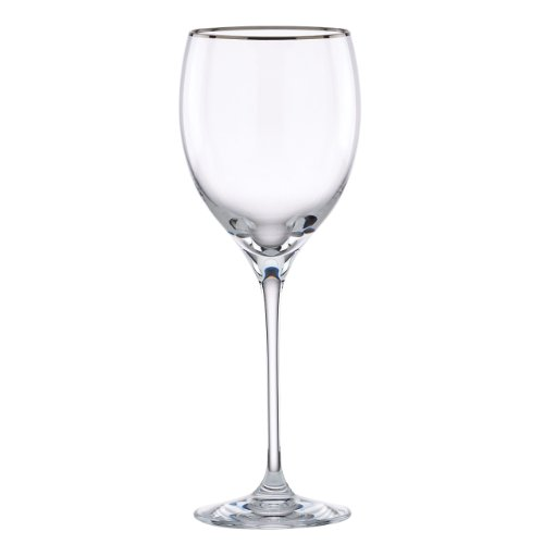 (Lenox Timeless Platinum Signature Crystal Wine Glass)