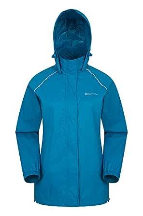 Mountain Warehouse Pakka Womens Jacket – Waterproof Rain Coat, Packable Casual Jacket, Breathable, Lightweight, Comfortable Ladies Coat – For Travelling, Walking Dark Teal 10