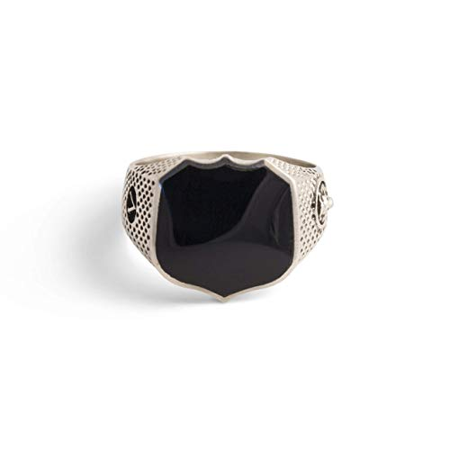 (Signet Ring Men comes in Turquoise, Black Onyx, Bloodstone, Carnelian, Malachite in Sterling Silver or Bronze)
