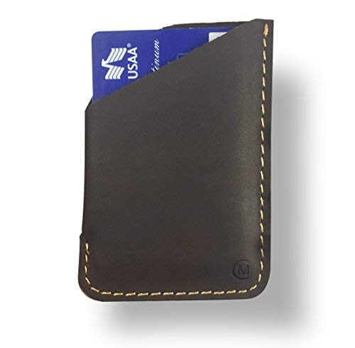 Leather Card Holder by Modern Carry - Magnum (Brown Card - Leather Card Sleeve
