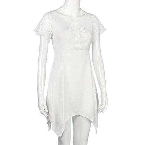 Sleeve Women 5XL White Loose Irregular S Hem Dress Binmer Blouse Women Plus Shirt TM Short HxAwzg