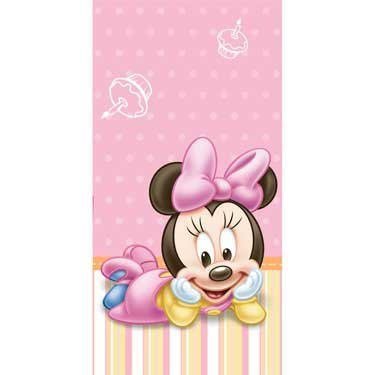 Minnie Mouse 1st Birthday Plastic Tablecover (1ct)]()