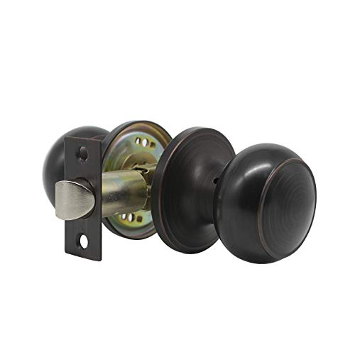Probrico Passage Door Knob Handles Interior Hall/Closet Keyless Locksets Oil Rubbed Bronze 6 Pack by Probrico (Image #1)