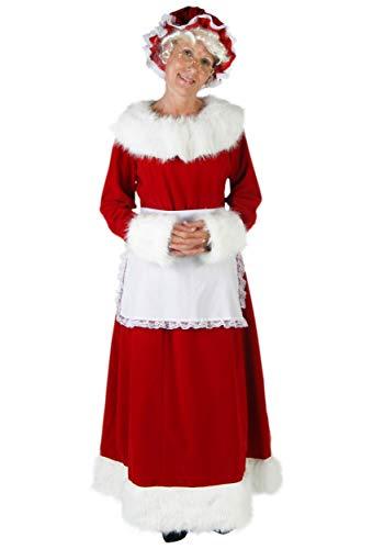 Women's Plus Size Mrs. Claus Costume Mrs. Santa Claus Dress 3X Red]()