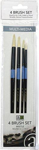 e Brush Set, Bristle, Round, Size, #0, #1, #3, #5 ()