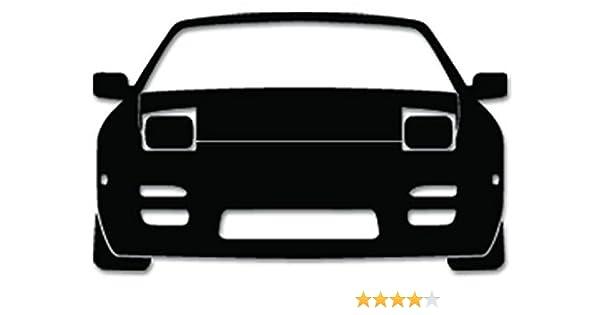 JDM Nissan 240sx s13 Vinyl Decal Sticker For Vehicle Car Truck Window  Bumper Wall Decor - [6 inch/15 cm Wide] - Gloss BLACK Color