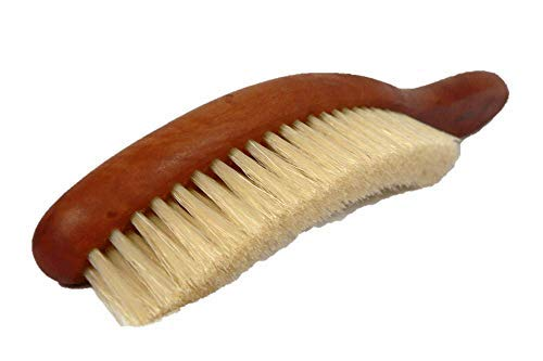 Valentino Garemi Classic Cleaning Hat Brush - Eliminate Dry Stains Dust Rain Spots Sweat Stains Pet Hair - Superb Pear Stained Wood and Genuine Boar Hair - Made in - Suits Mens Valentino