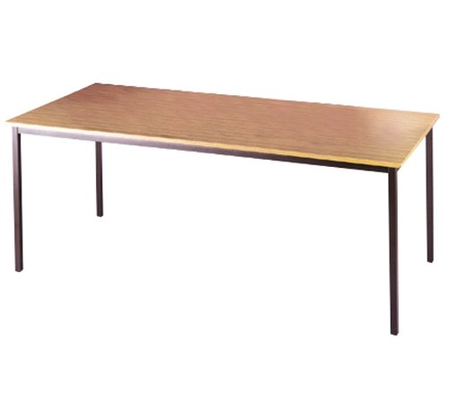 Graphite Leg Rectangular Table By Ready Office - Height: 725 MM; Width: 1400 MM; Depth: 800 MM - Color: Beech