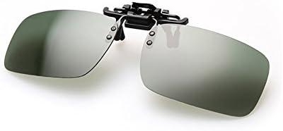 8bd2925861b AUUS Clip on Sunglasses Flip Up Polarized Sunglasses Anti-Blue Ray Glare  Eyeglass Frameless Rectangle lens UV400 for Driving Fishing Cycling Walking  ...