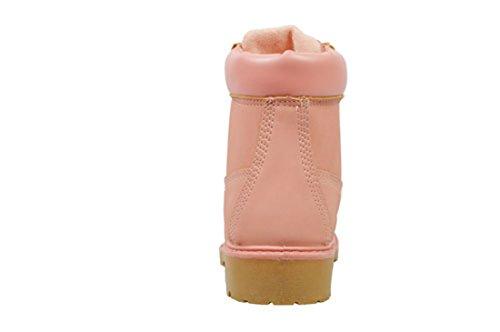 Stivali Da Lavoro Golden Road Lace Up Stivaletti Da Combattimento Alla Caviglia Per Donna (6,13015 Rosa)