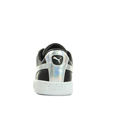 Donna Bianco Puma Basket Sneaker Explosive Heart Noir qXzrXt