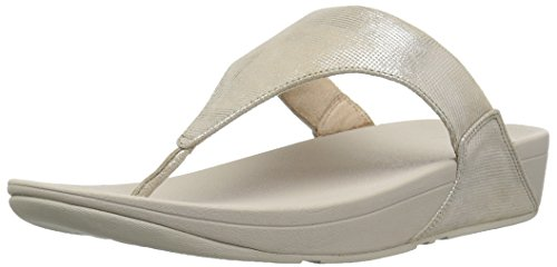Thong Lulu Sandal Shimmer Toe Check Women's Stone fitflop wqPxvgAtc5