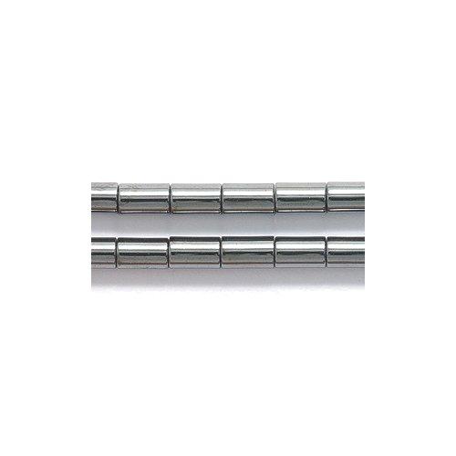 Shipwreck Beads Hematite Tube Bead, 3 by 5-mm, 79-Piece Per Strand, 15-Strand/Pack (Tube Bead Magnetic Hematite)