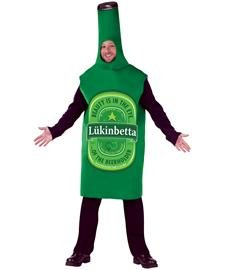 Lukinbetta Beer Bottle Adult Costume - Standard ()