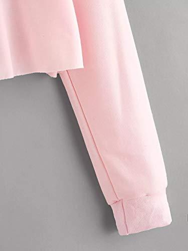 Chic Femmes Rose Automne et Blouse Capuche Sweat S Longues XL Pullover Hiver Outerwear Sweatshirt Manches Subfamily Hoodie BqSpEw8Ef