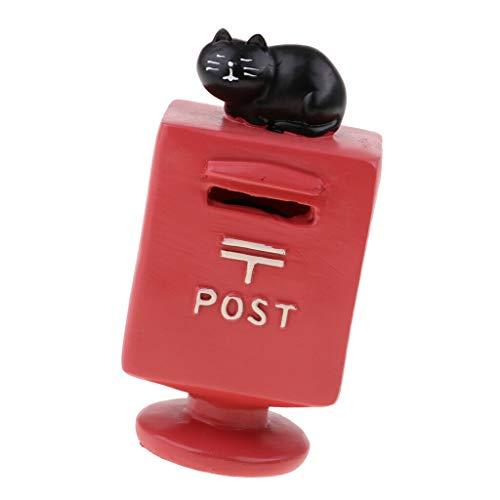 NATFUR 1:12 Dollhouse Miniature Post Box Piggy Bank for Kids Pretend Play Toys