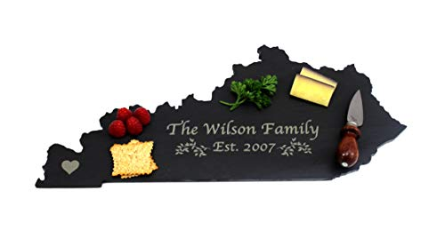 Custom Kentucky Slate Cutting Board, Serving Tray, or Cheese Board- Personalized with Laser ()