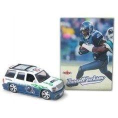 (Seattle Seahawks NFL Diecast 2005 Cadillac Escalade with Darrell Jackson Fleer Ultra Trading Card)