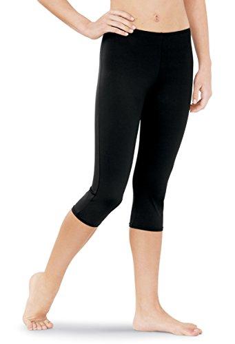 Balera Dance Capri Leggings Matte Nylon Black Adult ()