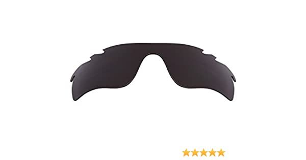 e90ca54d8f Vented Radarlock Path Asian Fit Replacement Lenses Black by SEEK fits OAKLEY  at Amazon Men s Clothing store