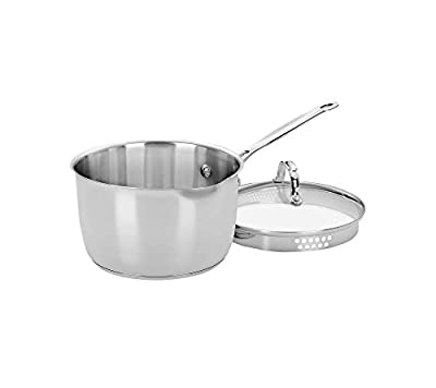 Cuisinart Chef's Classic Stainless 3-Qt. Covered Pour Saucepan