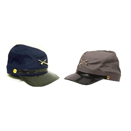 a879b48c83c 60%OFF Civil War Blue   Gray Kepis ~ 2 Adjustable Cotton Soldier Hats