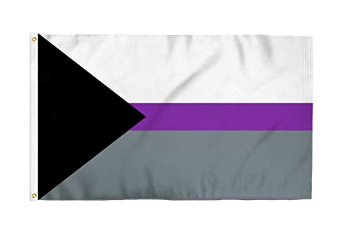 Demisexual 3x5 Foot LGBTQ+ Pride Flag - Bold Vibrant Colors, UV Resistant, Golden Brass Grommets, Durable 100 Denier Polyester, Mighty-Locked Stitching - Perfect for Indoor or Outdoor Flying!