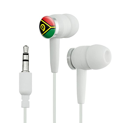 Vanuatu National Country Flag Novelty In-Ear Earbu...