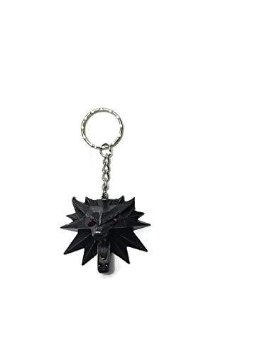Llavero con medallón The Witcher 3 Wild Hunt Lobo 3D Ojos ...