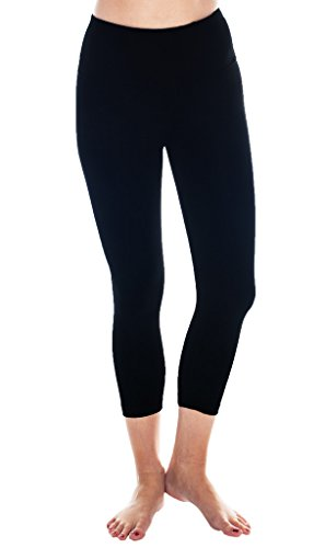 90 Degree By Reflex High Waist Tummy Control Shapewear – Power Flex Capri Legging – Quality Guaranteed - Black XL Low Rise Capri Leggings Pants
