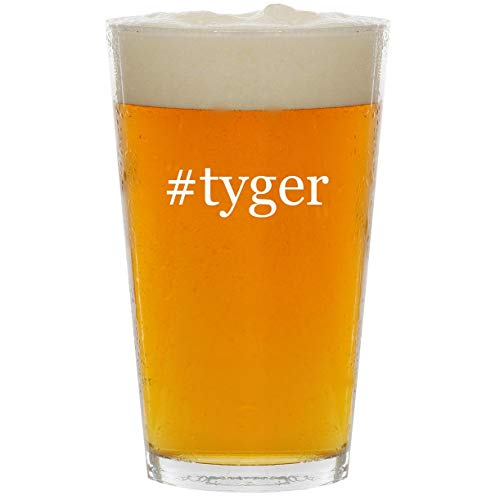 #tyger - Glass Hashtag 16oz Beer Pint
