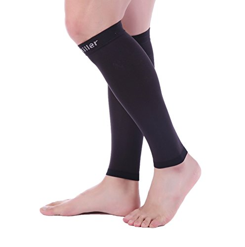 Doc Miller Premium Calf Compression Sleeve 1 Pair 20-30mmHg Strong Calf Support Graduated Pressure for Sports Running Muscle Recovery Shin Splints Varicose Veins (Black, 5X-Large) by Doc Miller (Image #7)