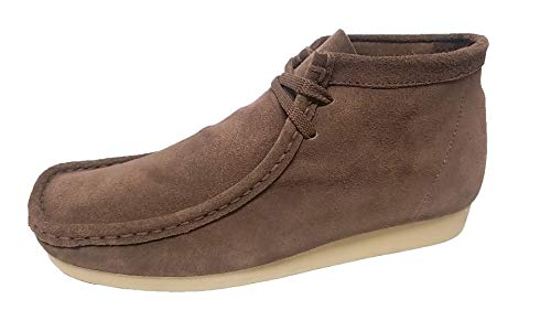 - Nairobi gold Wallabee Genuine Leather Mens Lace Up Boots Moccasin Toe Chukka Lace Up (10.5, BRN/Gum)