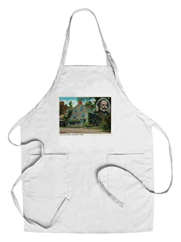 Concord, MA - Exterior View of the Old Manse, Emerson and Hawthorne Home (Cotton/Polyester Chef's Apron) ()